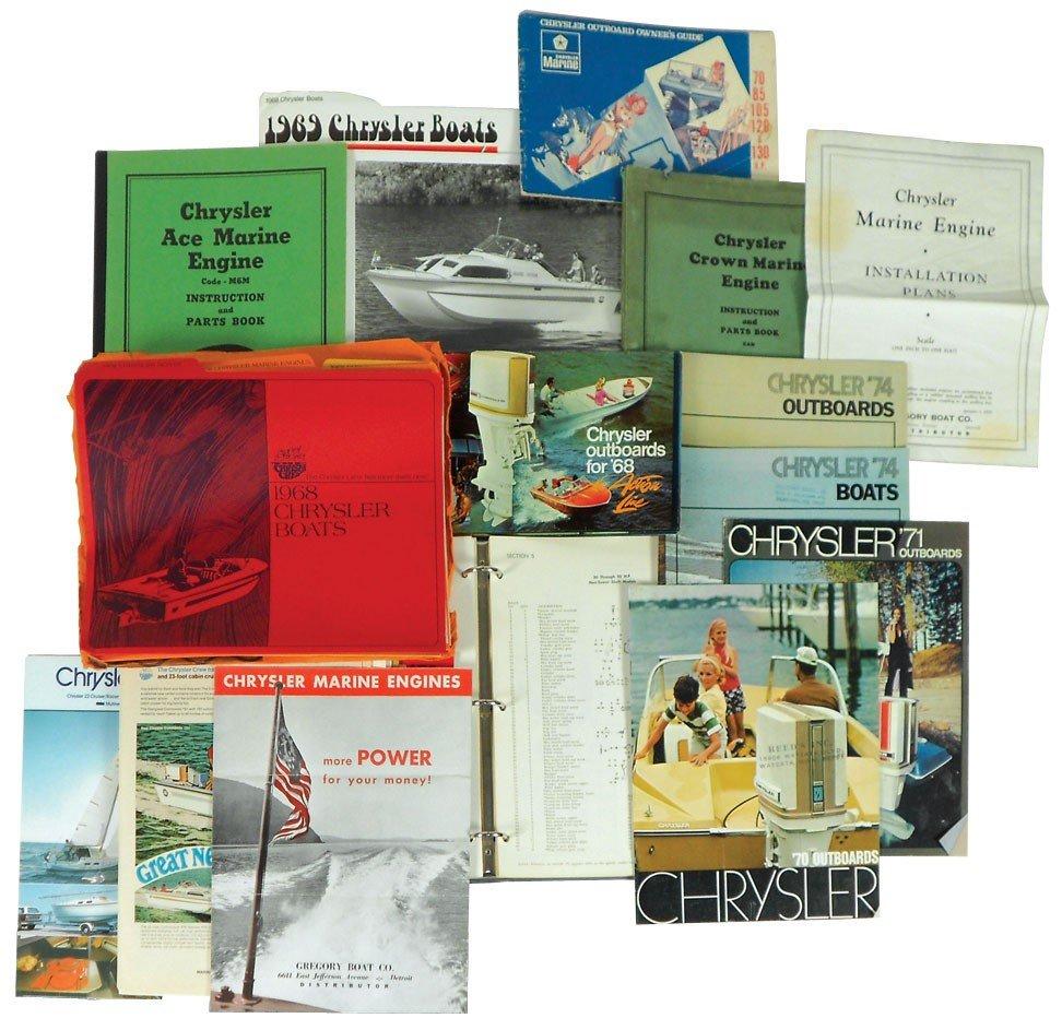 0050: Boat dealer advertising literature, 30+ pcs on Ch
