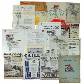 Boat Dealer Advertising Literature, Approx 45 Pcs