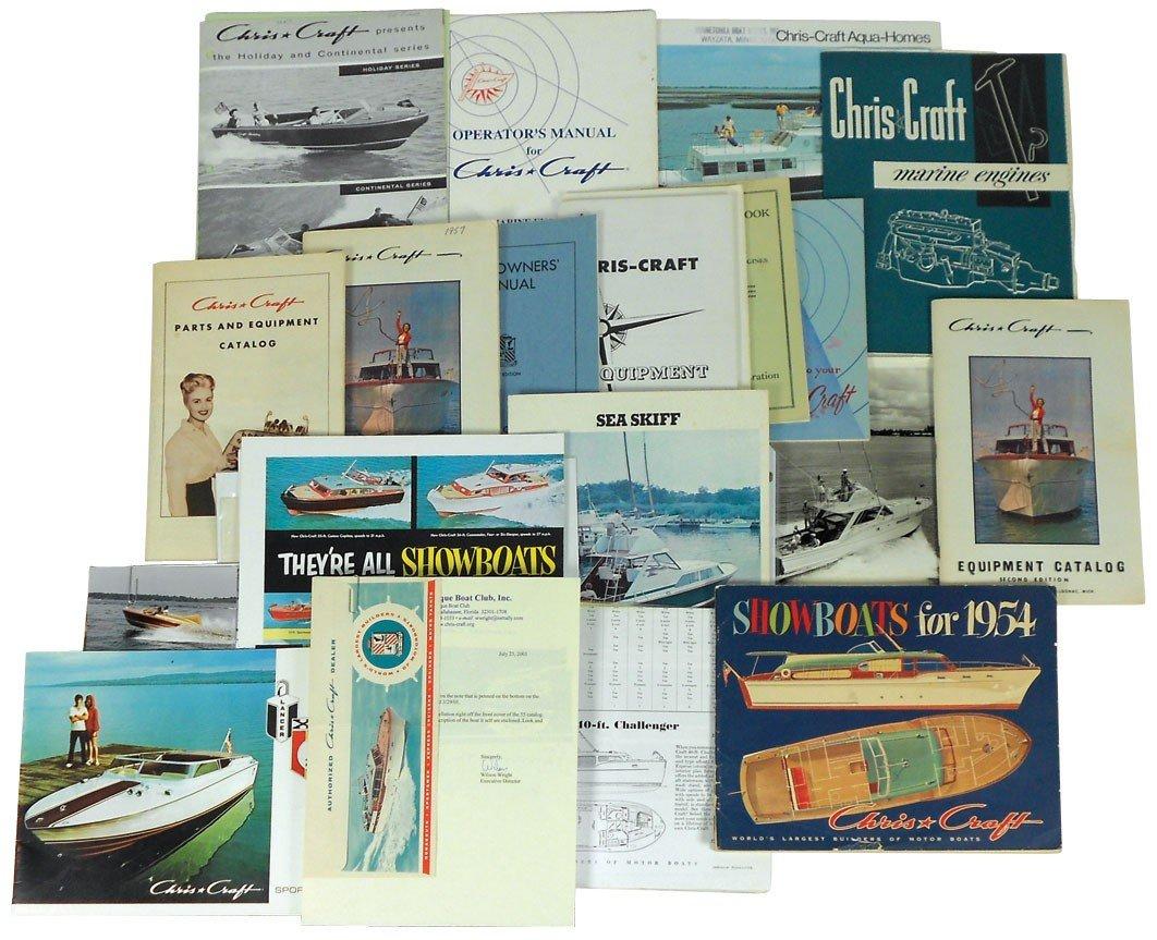 0052: Boat dealer advertising literature, 30+ pcs of Ch