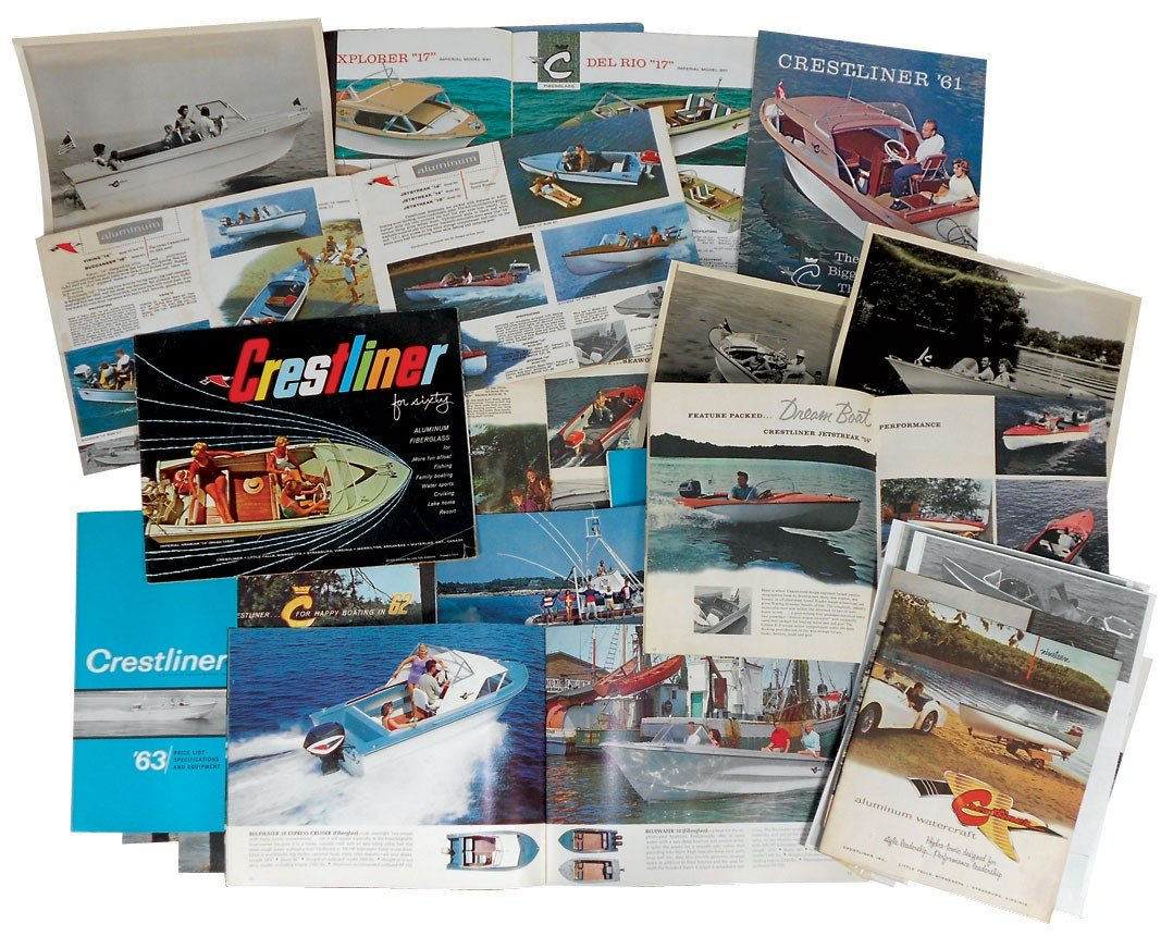 0053: Boat dealer advertising literature, 20+ pc of Cre