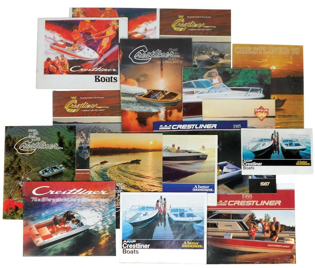 0054: Boat dealer advertising literature, approx 20 pcs
