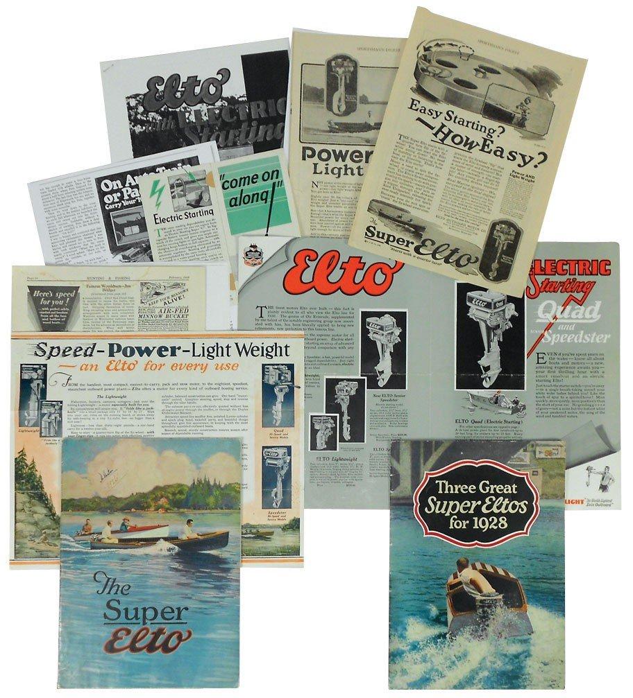 0055: Boat dealer advertising literature, 10+ pcs of El