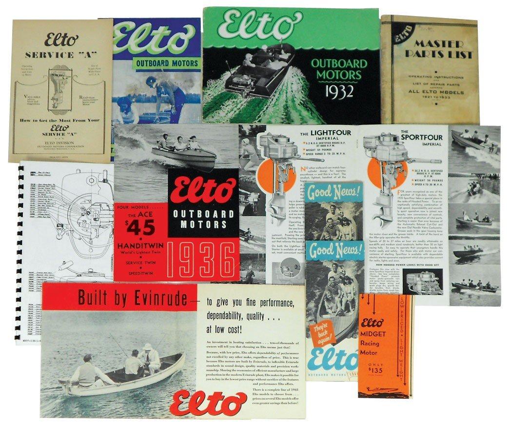 0056: Boat dealer advertising literature, 11 pcs of Elt