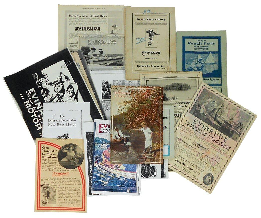 0057: Boat dealer advertising literature, all Evinrude,