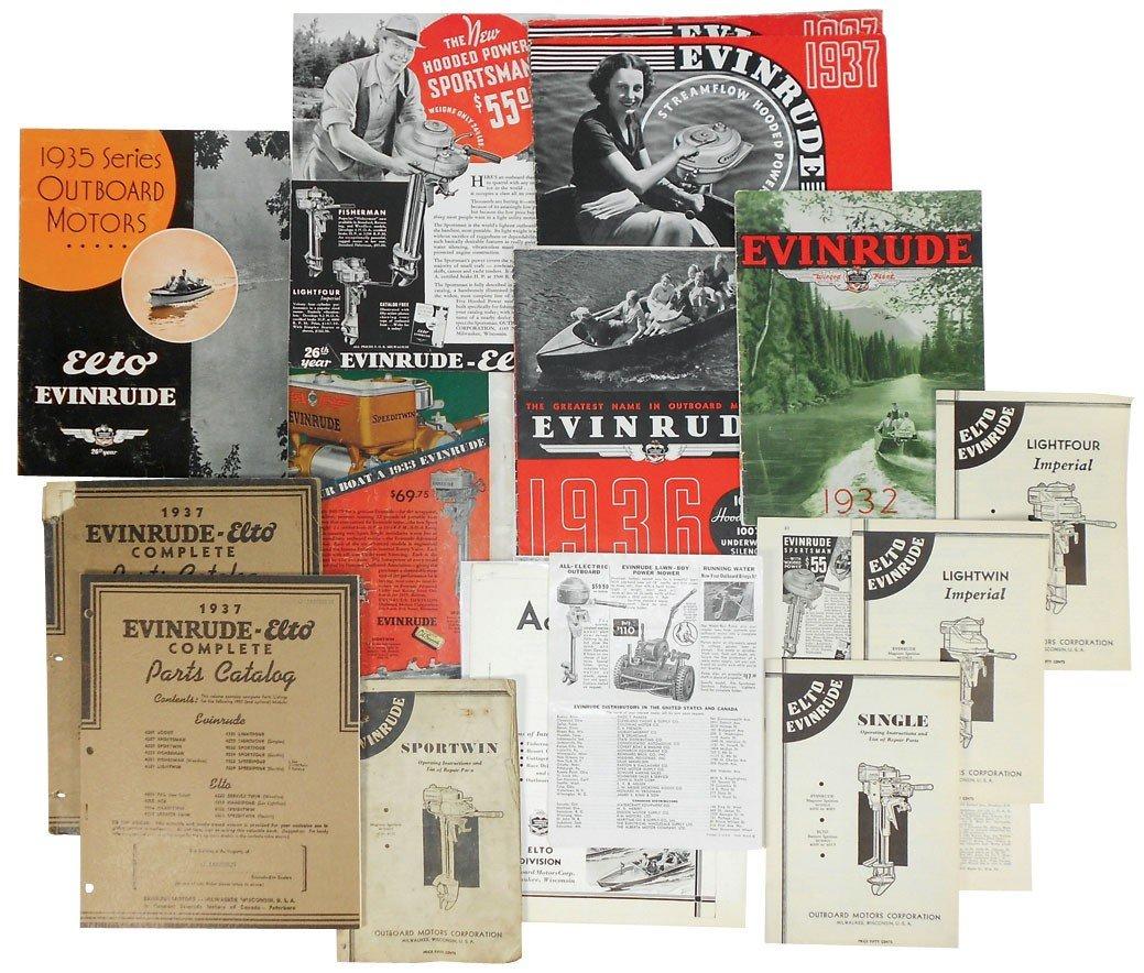 0059: Boat dealer advertising literature, all Evinrude,