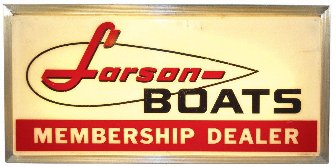 0060: Boat dealer sign, Larson, light-up molded plastic