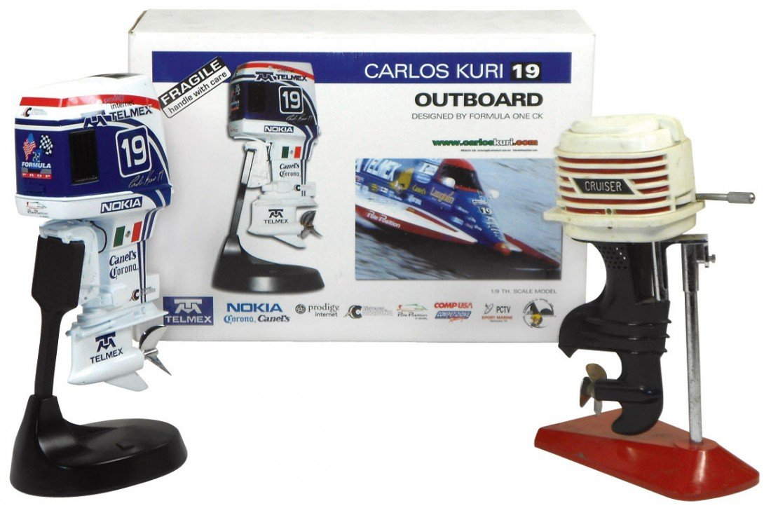 0064: Miniature outboard motors (2), Alterscale Telmex