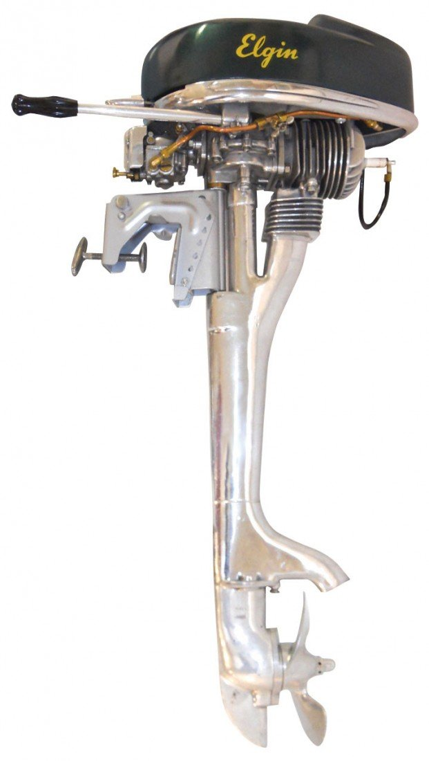 0081: Boat outboard motor, Elgin, made by West Bend & s