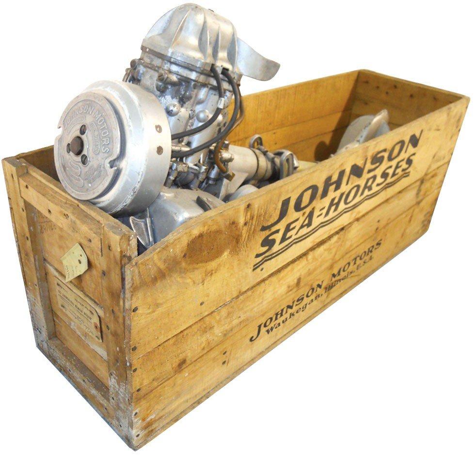 0083: Boat Outboard Motor, Johnson LT (Light Twin), Mfg