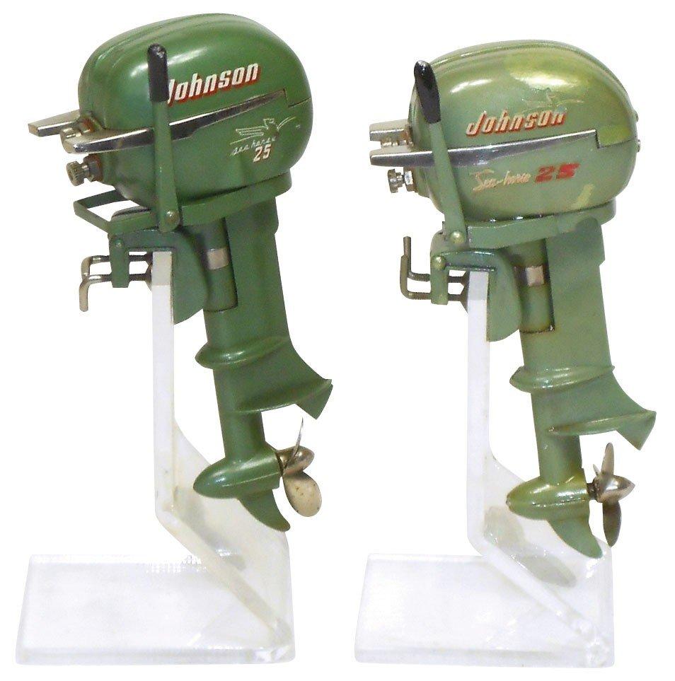 0174: Miniature outboard motors (2), K & O Johnson 25HP
