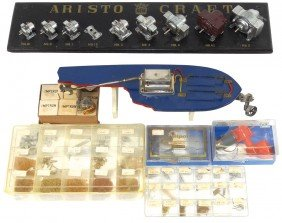 Toy Boat Motor Dealer Display & Parts, Includes
