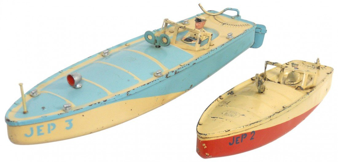 0199: Toy boats (2), J.E.P. of France tin racing boats,