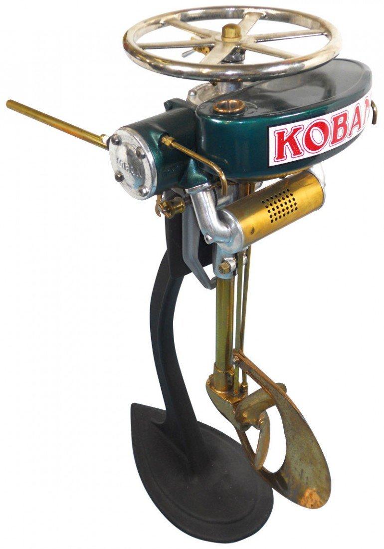 0219: Boat outboard motor w/stand, Koban Model C, c.192
