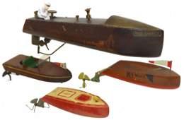 0229: Toy boats (4 pcs), Mengel Playthings Miss Americ