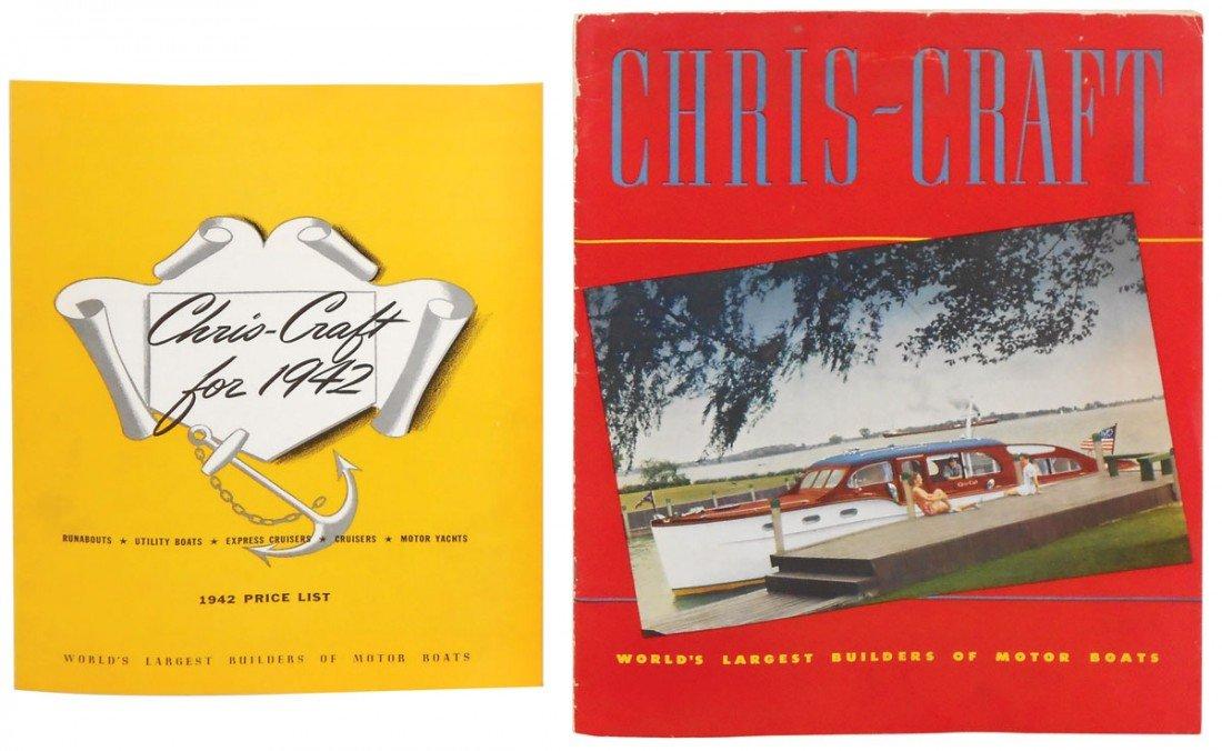 0233: Boat dealer advertising literature, 1942 Chris-Cr