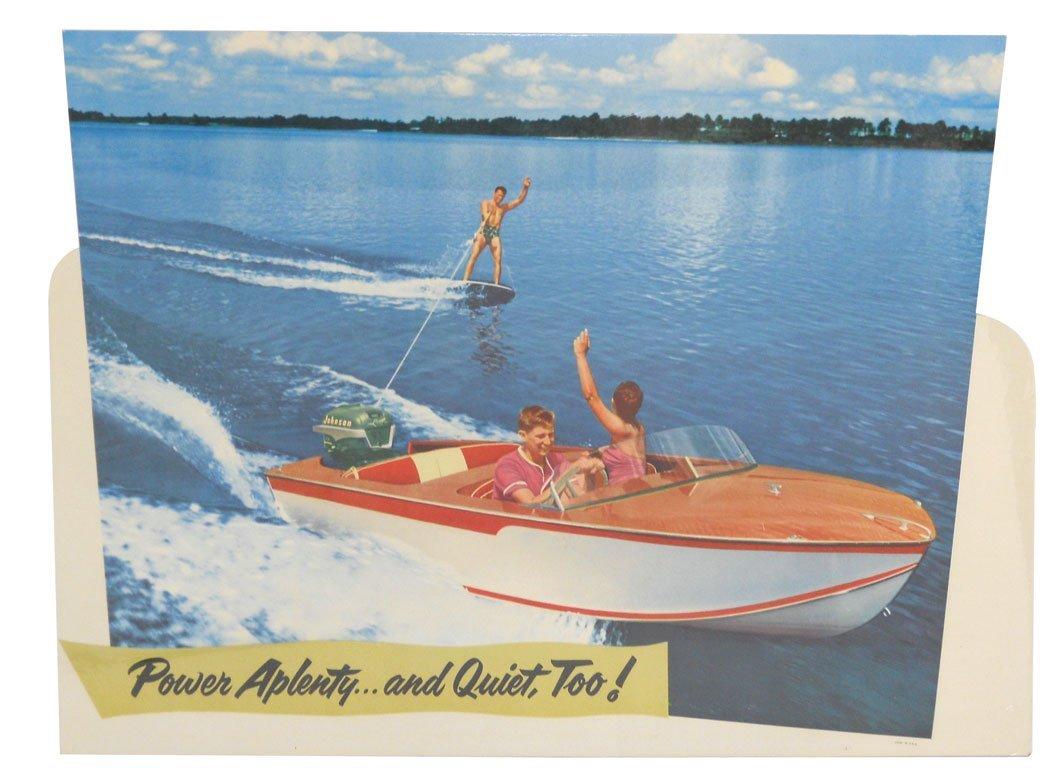 0235: Boat dealer signs (5), Johnson Sea-Horse display,