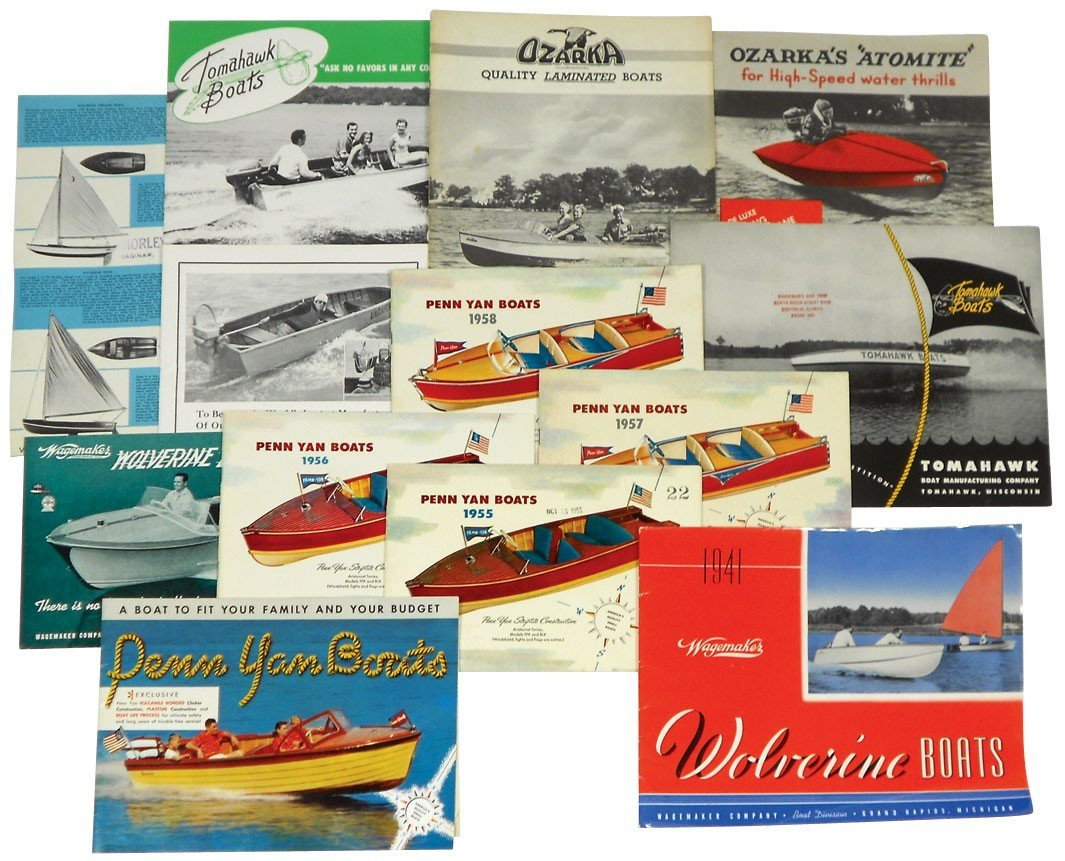 0237: Boat dealer advertising literature, approx 14 pcs