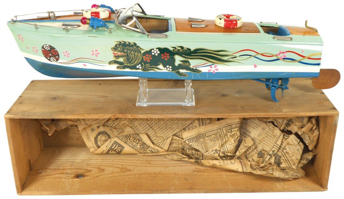0271: Toy boat, Japanese ITO dragon boat w/lion motif,