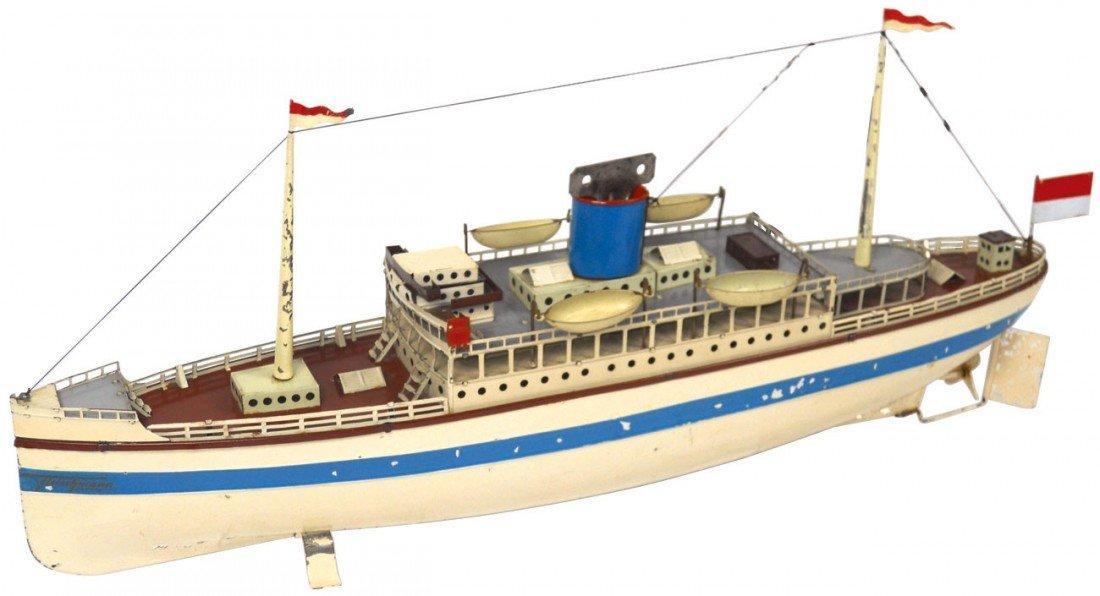 0272: Toy boat, Fleischmann ocean liner, early 1900's