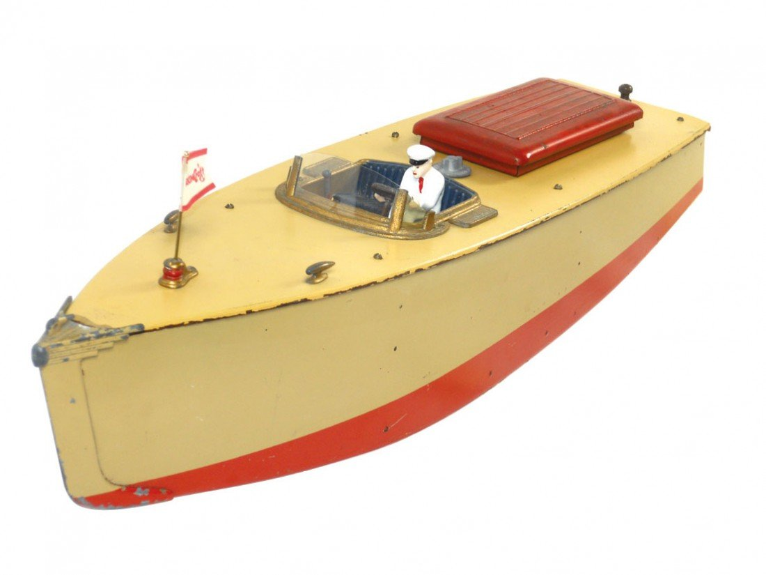 0275: Toy boat, Orkin Craft scale model speed boat by C