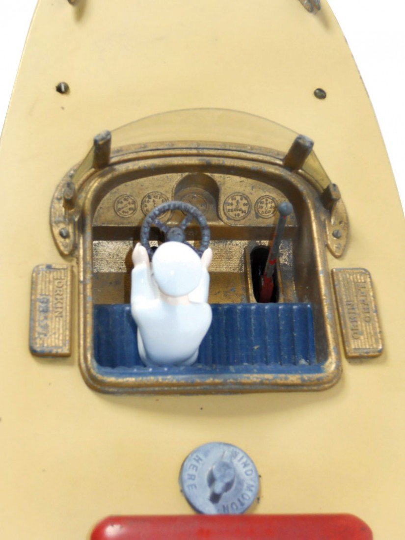 0275: Toy boat, Orkin Craft scale model speed boat by C - 2