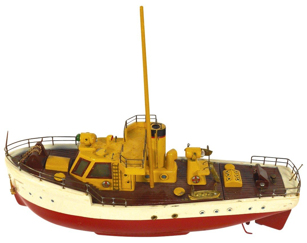 0303: Toy boat, Japanese ITO work boat, wood, battery p