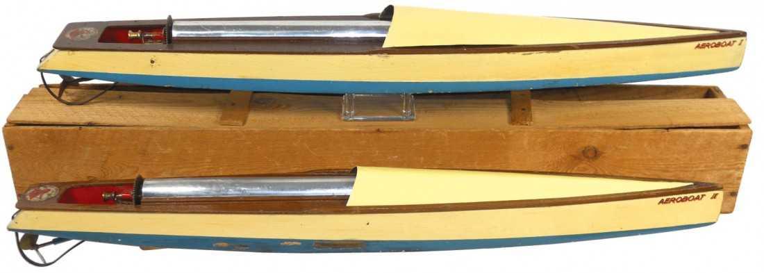 0335: Toy boats (2), Bowman Aeroboat I & II, mfgd in En