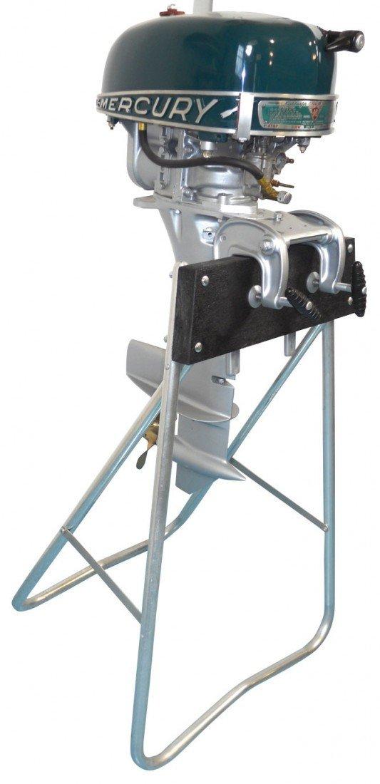 0339: Boat outboard motor w/stand, Mercury KG4H Rocket