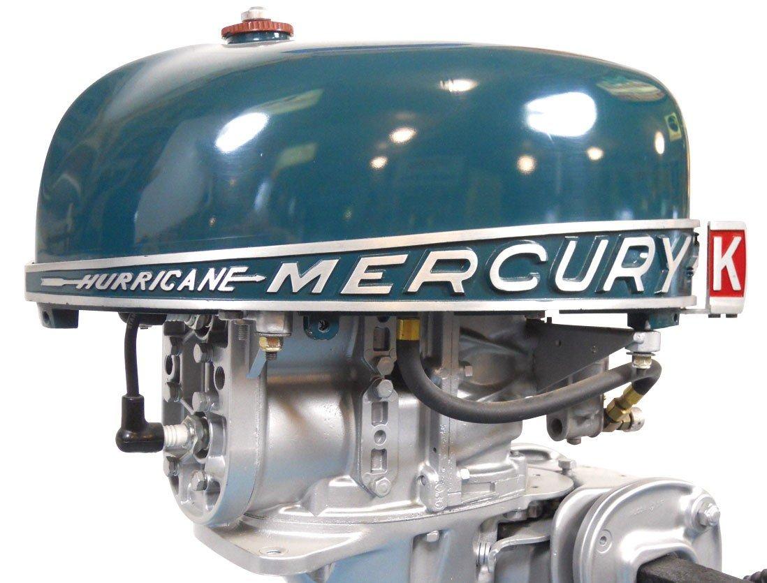 0339: Boat outboard motor w/stand, Mercury KG4H Rocket  - 3