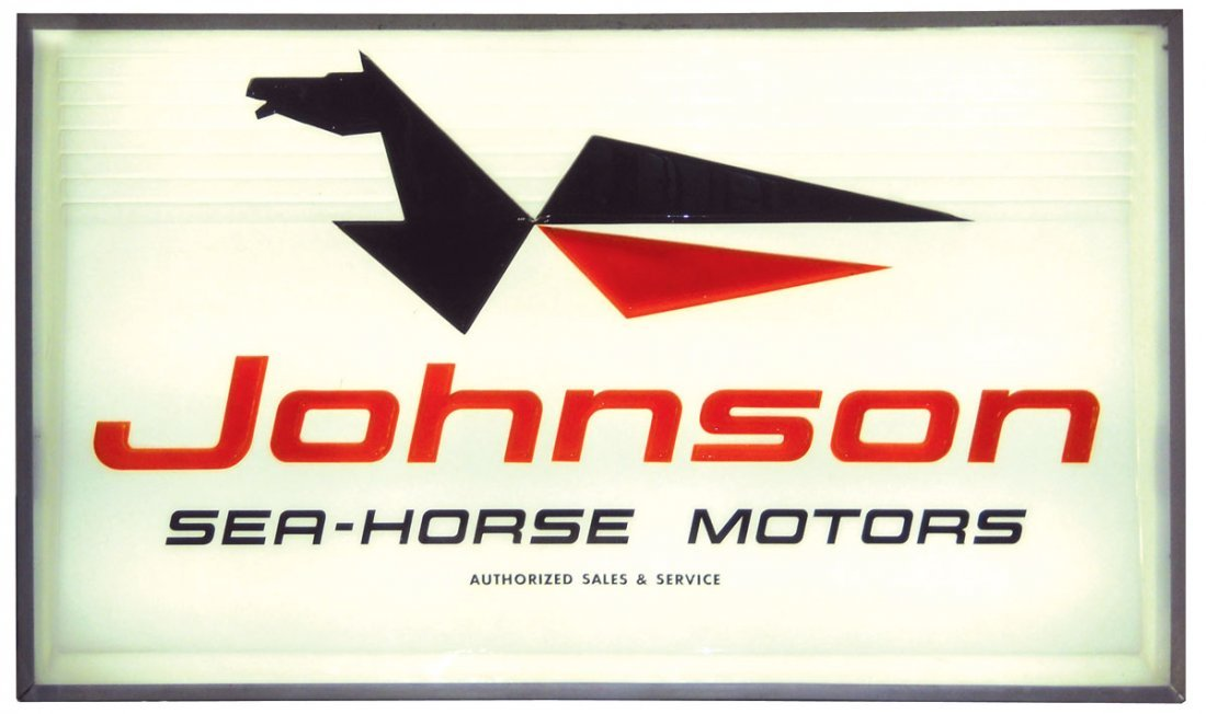 0372: Boat motor dealer advertising light-up sign, John