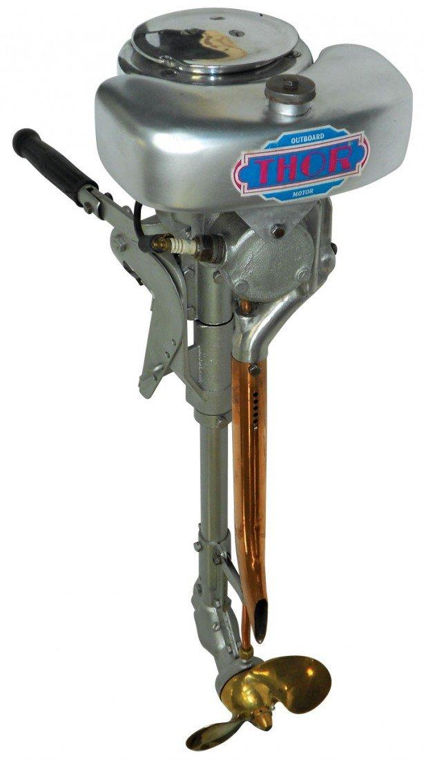 0558: Boat outboard motor, Thor, mfgd by Kiekhaefer Cor