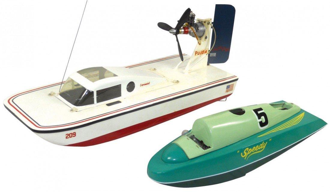 "0691: Toy boats (2), Japanese ""Speedy"" w/gasoline engin"
