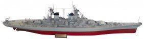 Scale Model WW2 Battleship, USS Missouri BB63, La