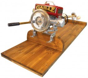 Boat Outboard Motor W/wood Stand, Caille Liberty