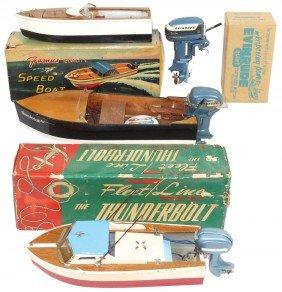 Toy Boats & Motors (4 Items), K & O Evinrude Moto