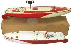 Toy Boats (2), JEP #4 & #5 Tin Windups, Mfgd I