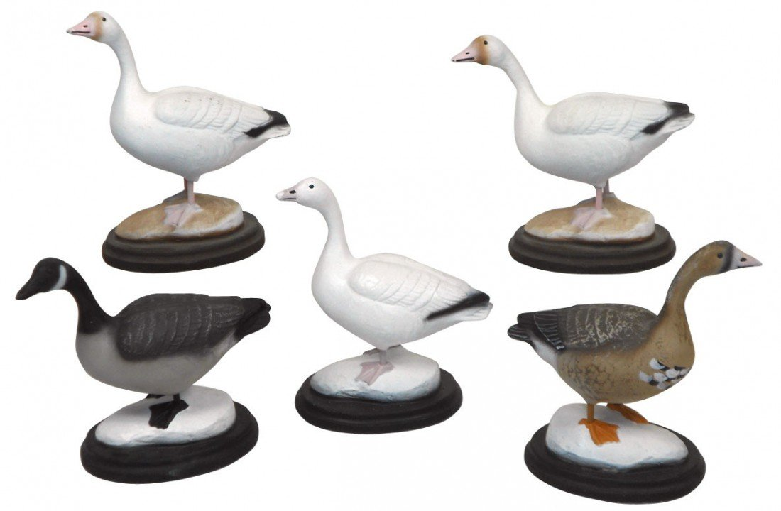 0771: Decoys, miniature or salesman sample Geese from P