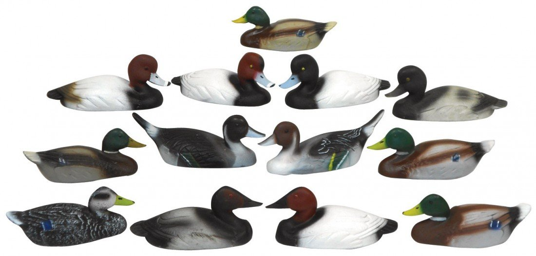 0776: Decoys (13), miniature or salesman samples from P