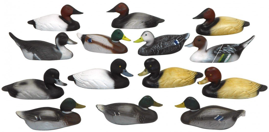 0777: Decoys (14), miniature or salesman samples from P