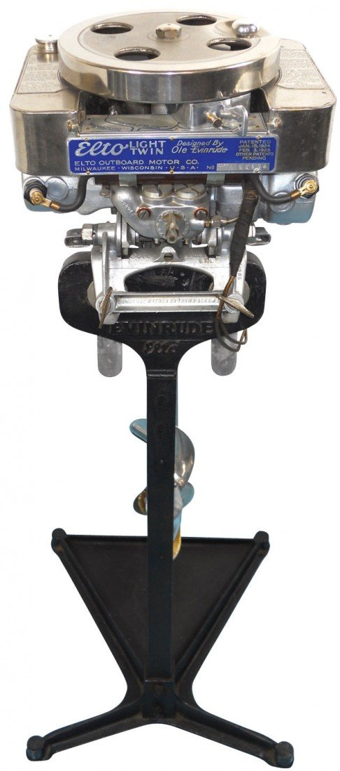 0793: Boat outboard motor w/stand, Elto Model G Light T
