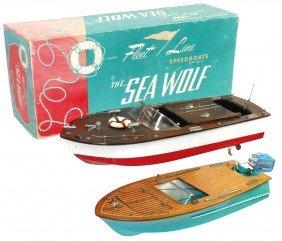 Toy Boats (2), Fleet Line Sea Wolf W/inboard Elec