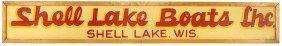 Boat Advertising Sign, Shell Lake Boats (WI), Lar