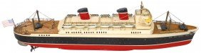 """Toy Boat, ITO """"Hit The Deck"""" Ocean Liner, Wood,"""