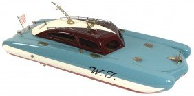 """Toy Boat, Japanese ITO """"W.T."""" Speed Boat, A Very"""