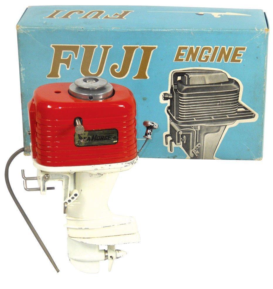 0844: Miniature outboard motor, Rare Fuji Sea Horse, re