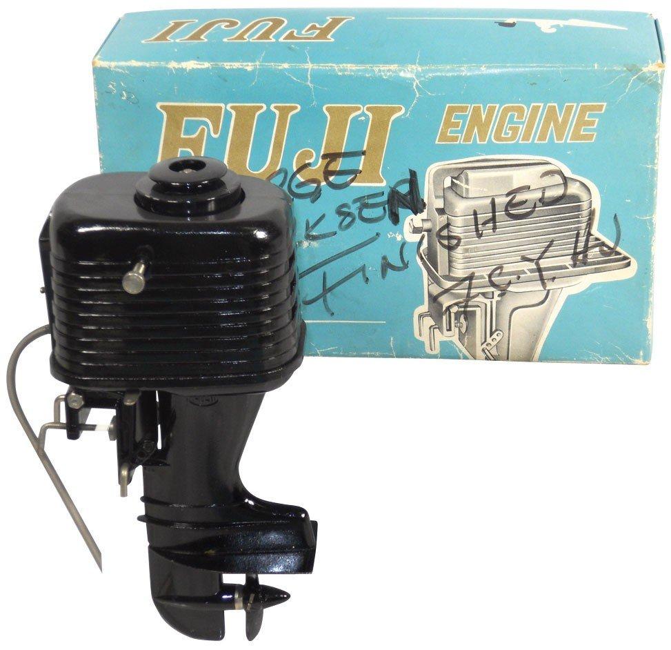 0845: Miniature outboard motor, Rare Fuji Sea Horse, bl
