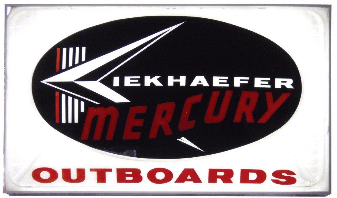 0848: Boat motor dealer advertising sign, Mercury Outbo