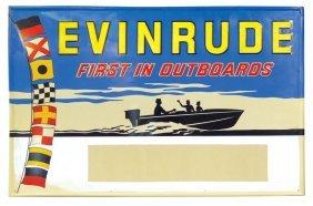 Boat Motor Dealer Advertising Sign, Evinrude-Firs