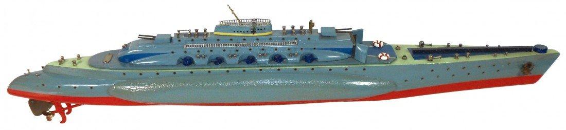 0853: Toy boat, Japanese ITO submarine w/airplane hange