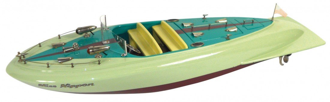 """0857: Toy boat, Japanese ITO speed boat, Very Rare """"Mis"""